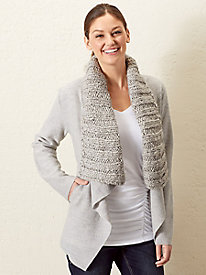 Boiled-Wool Shawl Jacket