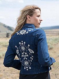 Embroidered Denim Jacket...