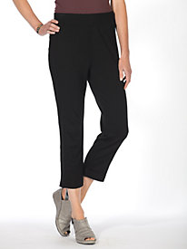 Ponte Knit Pull-On Crops