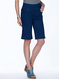 Stretch-tastic Pull-On Jean Bermuda Shorts