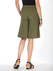 Women's Solid Pull-On Culottes