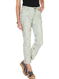 Laser Print Skinny Jeans