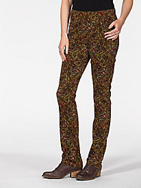 Cord-Tastic Pull-On Print Pants