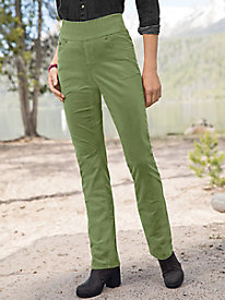 Cord-Tastic Pull-On Solid Pants