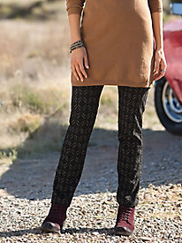 Jacquard Pull-On Pants