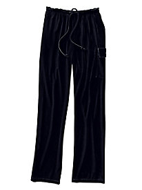 Stretch Velvet Cargo Pant