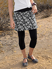 Capri Leggings with Print Skirt