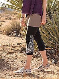 Print Capri Leggings with Skirt