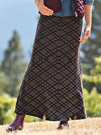 Women's Venetian Knit Maxi Skirt
