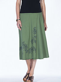 Women's Filigree Faux-Wrap Skirt
