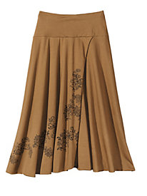 Filigree Faux-Wrap Skirt