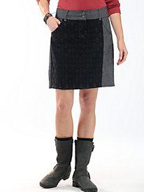 Women's Herringbone/Lace Pencil Skirt