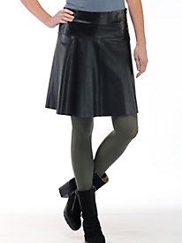 Women's Leather Swing Skirt