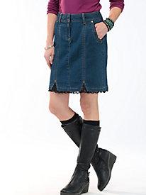 Women's Lace-Lift Jean Skirt