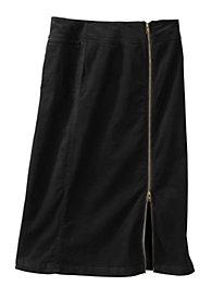 Women's Zip Cord Midi Skirt