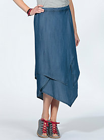 Women's Looks Like a Wrap Midi Skirt