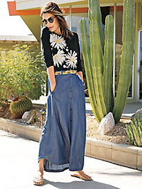 Everyday Blues Maxi Skirt Outfit