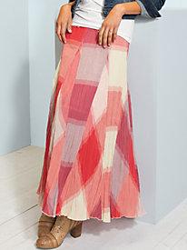 Women's 90 Degree Crinkle Gauze Maxi Skirt