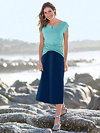 Bella Coola Solid Knit Midi Skirt