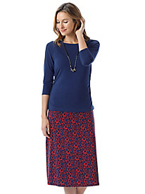 Women's Bella Coola Knit Print Midi Skirt