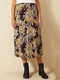 Bella Coola Print Knit Midi Skirt