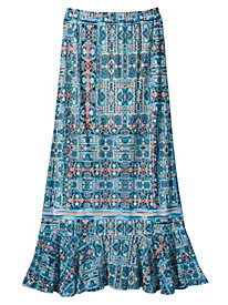 Women's Mesh Print Maxi Skirt