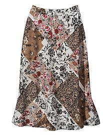 Women's Prints Charming Midi Skirt