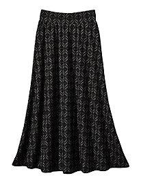 Lightweight Jacquard Maxi Skirt