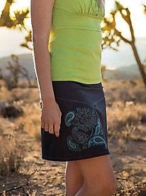 Graphic Seamed Skort