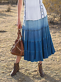 Ombre Tiered Skirt