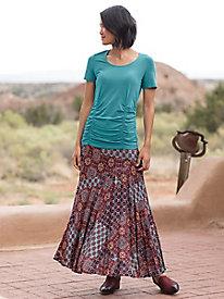 Navy Print Maxi Skirt...