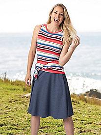 Cotton Jersey Skirt @...