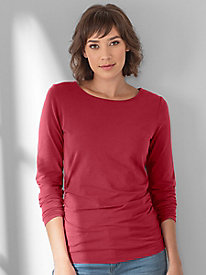 Waist Not Ruched Long Sleeve Top