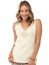 Women's Clay-Dyed Crocheted Tank