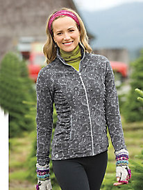 Women's ButterFleece Light Print Full Zip