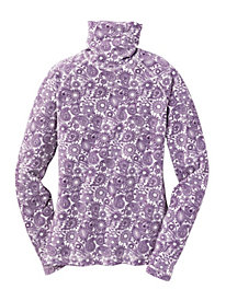 Women's ButterFleece Light Print T-Neck