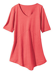Women's V for Very Flattering Knit Elbow Tunic