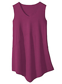 V for Very Flattering Knit Tank Tunic
