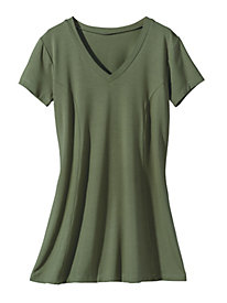 Women's Solid Swing Knit Tunic