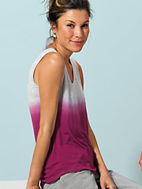 Women's Slim Down Dip-Dye Tank