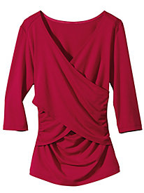 Women's 3/4-Sleeved Wrap Top