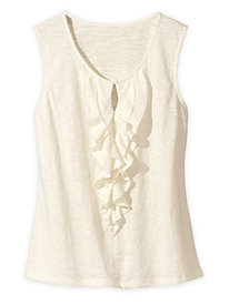 Ruffled Knit Tank