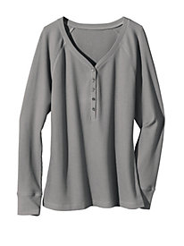 Women's First Thing Waffle Knit Henley