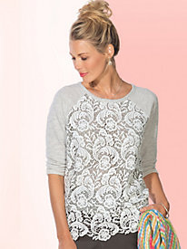 Women's Lace to the Finish Knit Top
