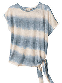 Women's Tie-Dyed Tie-Side Knit Top