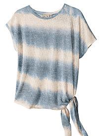 Women's Tie-Dyed Tie-Side Knit Top