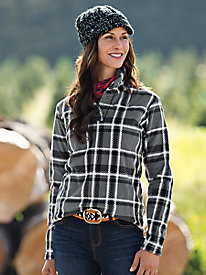 Plaid Butterfleece Shawl Collar