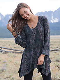 Women's Tapestry Garden Knit Tunic