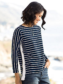 Tru Luxe Striped Knit...