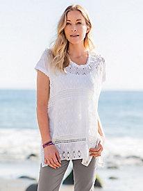 Short Sleeve Crochet...